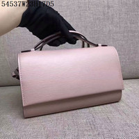 Wholesale Wave Style Black Leather - Europe Original quality shoulder Crossbody pure color waves top cow leather women casual bags or cosmestic bags 23cm wide