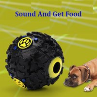 Wholesale Dog Toys Balls - Dog Toys Pet Puppy Sound ball leakage Food Ball sound toy ball Pet Dog Cat Squeaky Chews Puppy Squeaker Sound Pet Supplies Play