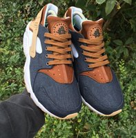 Wholesale canvas custom - NEW Huarache ID Custom Breathe Running Shoes For Men Women,Woman Mens navy blue tan Huaraches Multicolor Sneakers Athletic Trainers