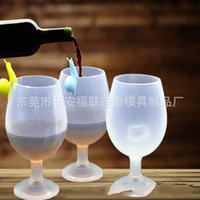 Wholesale T Clamps - Goblet Wineglass Vogue Wine Glass Silicone Cup Premium Wines Silicones Beer Cups New Arrival Drinkware For Camping 6fr R