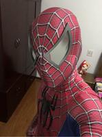 ingrosso costume spettacolare zentai straordinario-toby The Amazing Spiderman Costume 3D Originale Movie Halloween Cosplay Spandex Spiderman Costume adulto zentai vestito vendita calda spedizione gratuita