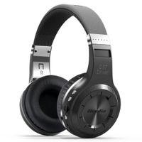 Wholesale Port Noise - Orignal Brand Bluedio H+ Bluetooth Stereo Wireless headphones Mic Micro-SD port FM Radio BT4.1 Over-ear headphones
