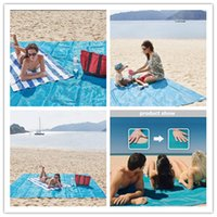 Moisture-proof pads sports car mats - Sand Free Mats Sand Free Beach Mat Magic Beach Outdoor Pads Solid Colors Portable Beach Mattress For Sports Travelling Picnic Camping Best