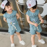 Wholesale Girl Boxers Shorts - 2017 Summer Children Clothing Boys Kids Clothes Girls America T-shirt Two Colors Casual Short Sleeves 3333