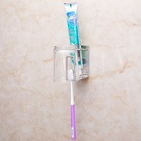 Wholesale Toothbrush Toothpaste Holder For Bathroom - Prevent Rust Toothpaste Stands Metal Stainless Steel Toothbrush Storage Holders For Bathroom Wall Sucker Type Cup Rack Sturdy 0 88gy B