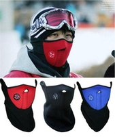 Wholesale Neck Warmer Ski Mask - Bicycle Cycling Motorcycle Half Face Mask Winter Warm Outdoor Sport Ski Mask Ride Bike Cap CS Mask Neoprene Snowboard Neck Veil