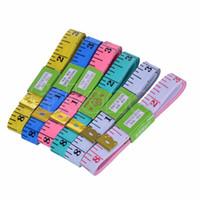 Wholesale Diet Clothes - Wholesale- Nice 1.5M 60inch Soft Flat Tape Ruler Mini Colourful Tailor Diet Body clothes measure -B119