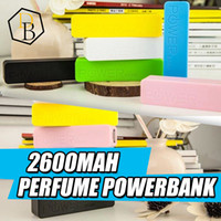 Wholesale Perfume Power Bank Emergency - Best Selling Universal 2600mAh Portable Perfume USB Power Bank External Backup Battery Charger Emergency Travel Power Pack for Mobile IPhone