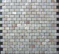 telhas de mosaico vermelho venda por atacado-Frete Grátis branco de água doce shell mosaico mãe de pérola mosaico para cozinha backsplash telhas do banheiro mosaico