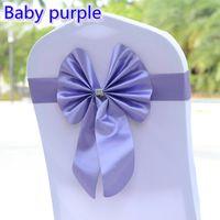 фиолетовые стулья для свадеб оптовых-Детские фиолетовый цвет стула створки бабочка стиль галстук-бабочку стрейч створки лайкра группа спандекс крышка стула створки для свадьбы Оптовая