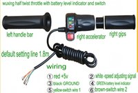 Wholesale Electric Twist Throttle - half twist throttle with battery level indicator indicating lights&switch accelerator handlebar grips for electric scooter bike tricycle