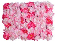 Wholesale Shop Props - flower wall Silk rose tracery wall encryption floral background artificial flowers creative wedding stage props free shopping WT048