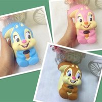 Wholesale toys for squirrels - Squishy Squirrel Slow Rising Toy Decompression Bread Cute Cake Sweet Animal Scented Phone Pendant Key Chain Toy Gift