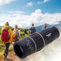 telescopio recubierto de óptica al por mayor-2017 16X52 Telescopio Monocular Al Aire Libre de Doble Foco Zoom Lente Óptica Binoculares Alcance del Ocular Lentes de Recubrimiento de Doble Lente Óptica de Enfoque