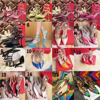 Wholesale High Heel Sexy Platform Shoes - women high heels dress shoes party fashion rivets girls sexy pointed toe shoes buckle platform pumps wedding shoes black white pink color