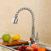 Wholesale Spring Pull Out - Kitchen Sink Faucet Kitchen Faucet Mixer Pull Out Sprayer Deck Mounted Pull-out Spray With Single Handle Spring loaded Kitchen Faucet