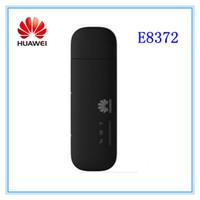 modem usb 4g lte huawei toptan satış-Ücretsiz kargo Toptan-Unlocked huawei E8372 150 Mbps Kablosuz Modem 4G Wifi 4G LTE Wifi Dongle LTE Modem
