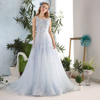 Wholesale Seductive Prom Dresses - Elegant Seductive Sleeveless Lace Applique Beading Tulle Long Prom Dresses 2017 Corset Women Evening Dress Formal Party Gowns