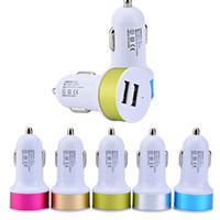 Wholesale Usb Charge Phone 1a - 1000pcs Dual Usb Car Charger Adapter 2 usb Port 2.1+1A Smart Car charger for Iphone Samsung Phone car charging accessories