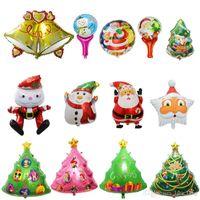 Wholesale Christmas Tree Napkin Rings - Placemats Placemat Napkin Rings Mix Style Sales Christmas Carnival Halloween Balloon Helium Balloons Santa Snowman Aluminum Film The Tree