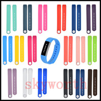 Wholesale Silicone Band Bracelet Watches - 18 color 2016 Newest Silicone Watch band Bracelet Wrist Strap For Fitbit Alta HR Smart Watch No Tracker L S size