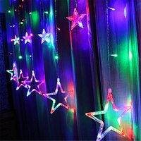 LED Flash String Lights Stars 2m * 1m 100PCS LED AC110 / 220V Fairy String Lights Giardino Indoor Party Luci di Natale