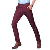 Wholesale Gents Suits - Wholesale- Men's Suit Pants British Style Stretch Suit Trousers Pencil Pants Big Size Mens Slim Mens Fashion Pants Non Ironing Gent Life