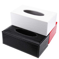 Wholesale Office Room Colors - Wholesale- 3 Colors Stylish Elegant Royal PU Leather Crocodile Pattern Household Tissue Box Holder for Home Office and Car