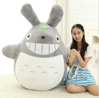 satılık anime peluş bebekler toptan satış-Hot Sale Sitting Size 25cm Famous Cartoon Totoro Plush Toys Soft Stuffed Toys Brinquedos Dolls High Quality Dolls Factory Price