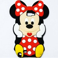 Wholesale Note2 3d Cases - Cute 3D Cartoon Case Minnie Mouse For Samsung Galaxy S3 S4 S5 S6 S7 Edge Note 2 3 4 5 7 Note2 Note3 Note4 Note5 Note7 Soft Silicone Covers