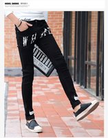 Wholesale Jeans Style China - Wholesale- new spring summer men straight slim Leisure Youth fashion casual jeans factory china Cheap wholesale