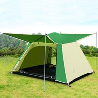 Wholesale Wholesale Open Tent - Auto Open Camping Tent 3-4 Person Waterproof 2 Layers Portable Flexible Camp Tents For Outdoor Activities Adventure Holiday Camping Tent