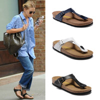 Wholesale New Sandals For Men - Wholesale-Summer slippers for men and women, 2016 new cork bottom flip-flops, sandals with a couple flip flops men