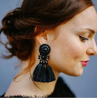 Wholesale Dangle Thread Earrings - Thread Long Tassel Earrings Rhinestone Drop Statement Fringe Earrings for Women Luxury Tear Drop Earrings Rhinestone Tassel Dangle #21