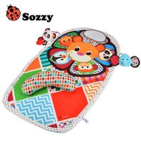 Wholesale Doll Crawls - Wholesale- 0-36M Baby Play Activity Crawling Mat Cartoon Animal Dolls Waterproof Multifunctional Early Learning Educational Gym Toy