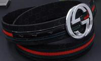 Wholesale Wide Brown Waist Belts - Mens Belts Smooth Buckle Men Strap Luxury PU Leather Wide Waist Belt Cinturones Ceinture Homme Cinture Uomo Pelle Belt