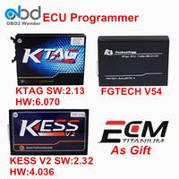 Wholesale Kess Programmer - Wholesale- New KTAG V2.13+KESS V2 V4.036 And FGTech V54 ECU Programmer K TAG V6.070 FG Tech Galletto 4 KESS V2.32 OBD2 Chip Tuning Kit