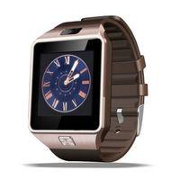 мобильные телефоны оптовых-Смарт-часы DZ09 Смарт-часы Dz09 Android iPhone Watch Смарт-SIM Интеллектуальный мобильный телефон с розничной коробкой для рождественского подарка