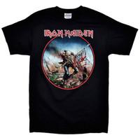 Wholesale death shirts - IRON MAIDEN Black Flag Death T-Shirt Hip Hop Novelty T Shirts Men'S Brand Clothing