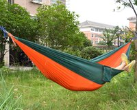 Wholesale Cheap Bedding Bag - Wholesale- Cheap price Double person Portable High Strength Parachute Fabric Camping Hammock Hanging Bed Net Sleeping Hammock