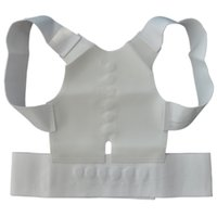 Wholesale Best Posture Corrector - Wholesale- 1pcs Best Deal Men Women Magnetic Back Support Posture Corrector Back Belt Pain Belt Brace Shoulder Chest Belt Size S-2XL
