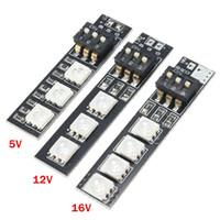 güç kablosu kablosu toptan satış-En iyi Fiyat RGB DC5V / 12 V / 16 V 7 Renkler 5050 SMD Şerit Gece Işık LED Kurulu Güç Kablosu Ile FPV 250 Için DIP Anahtarı Ile