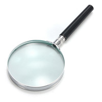 Wholesale 5x Hand Held Magnifying Glass - Wholesale- Brand New Portable 5X Handheld Hand Held Magnifying Glass Lens Magnifier Magnification 75mm Watch Repair Tool