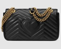 Wholesale Classic Flap Bag - Classic Leather black gold silver chain hot sell 2017 new women bags handbags shoulder bags tote bags messenger #78