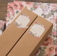 Wholesale Scroll Wedding Invitation Cards - Wholesale- 50PCS Free Personalized & Customised Printing Kraft Paper Box Scroll Wedding Invitations Card BT08, Free Shipping