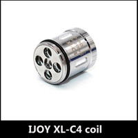 Wholesale C4 Atomizers - New Authentic iJoy Limitless XL-C4 Light-up Chip Coil 0.15ohm Relacement Coils Heads With Light for Limitless XL Atomizer