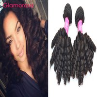 Wholesale Cambodian Baby Hair - Glamorous Brazilian Human Hair Baby Curly Hair 4 Bundles Natural Color Double Weft Malaysian Indian Peruvian Virgin Hair Extensions on sale