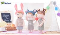 Wholesale big design coats resale online - new design Plush Sweet Cute Lovely Stuffed Baby Kids Toys for Girls Birthday Christmas Gift Inch Angela Rabbit Girl Metoo Doll