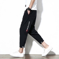 Wholesale Capri Pants Men Fashion - Fashion Summer Mens Pants Casual Sporting Tactical Sweatpants Hip hop Slim Jogger Capri loose Style trousers