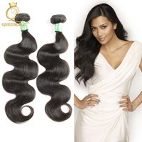 black woman hair achat en gros de-Brazilian Virgin Hair Weave Bundles Body wave 1B Dyeable Unprocessed Remy extension des cheveux humains Pour Black Women Queenlike Silver 7A Grade